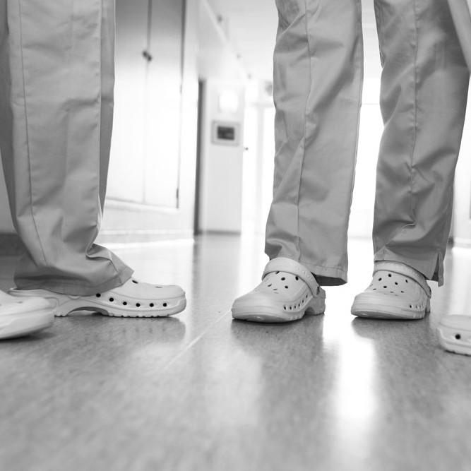 Medical team feet